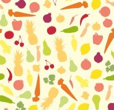 蔬菜水果无缝背景