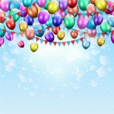 生日气球的背景颜色