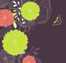 花朵 线条 手绘 背景图片