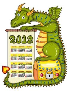 2012年新年日历模板