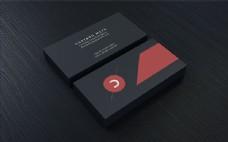 高档黑色名片设计模板psd素材下载