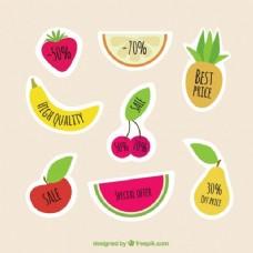 五颜六色的水果标签
