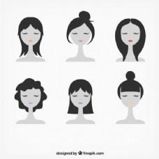 女性面孔的插图