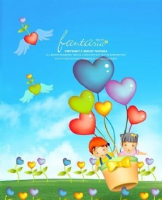 快乐儿童 卡通漫画 韩式风格 分层 PSD_0083