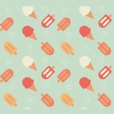 卡通冰淇淋图案背景