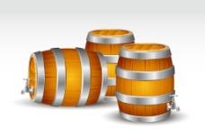 木制酒桶圖片