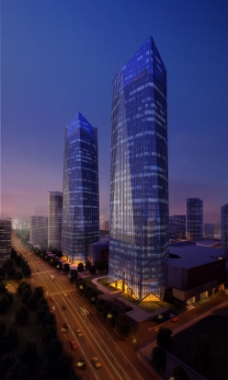 双子大厦建筑