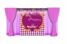 紫色豆花婚礼效果图