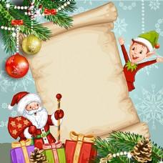 圣诞老人和精灵图片