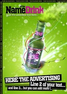 欧美风格酒吧海报图片