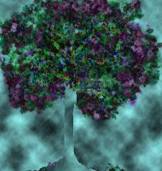 抽象的彩色大树