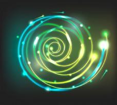 螺旋形光效背景矢量素材图片