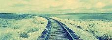 铁路唯美雪景背景banner