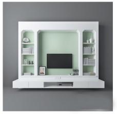 小清新时尚电视墙
