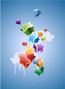 时尚蓝色海报背景图片