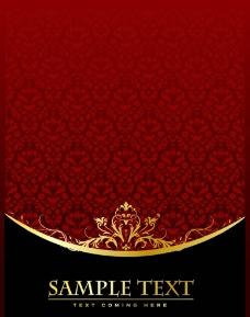 红色花纹海报背景图片