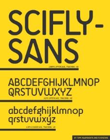 scifly-sans英文字体下载