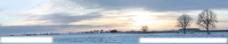 宽幅乡间雪景图片