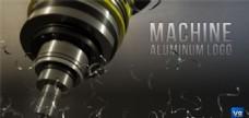 钻机雕刻Logo演绎动画AE模板