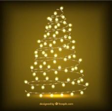 发光的圣诞树