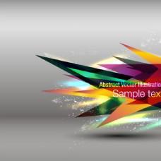 时尚动感三角形背景图片