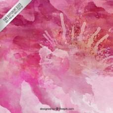 水彩画的粉红色背景
