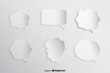 语音漫画泡泡背景纸镂空效果