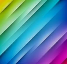 彩色斜纹背景矢量图