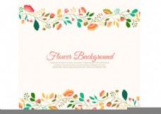 创意花卉边框背景矢量素材