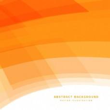 具有曲线形状的橙色背景
