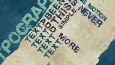 复古怀旧电影字幕AE模板