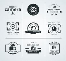 9款创意摄影标志矢量素材