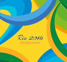 里约热内卢背景与抽象的形状