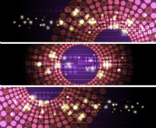 旋转的紫色圆点背景