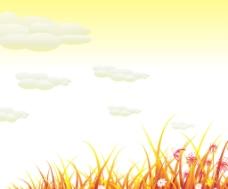 花草底纹背景图片