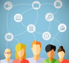 社交网络人群图片