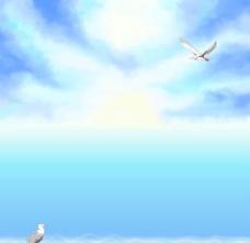 夏日海洋背景图片