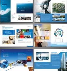 蓝色企业画册PSD图片
