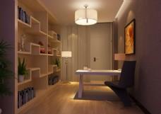 书柜,现代书房,时尚创意