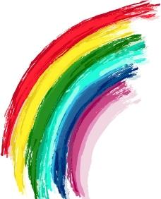七色彩虹背景图片