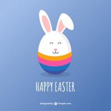 可爱的复活节兔子卡