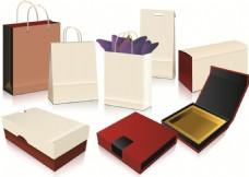 空白购物袋包装盒