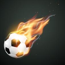 燃烧的足球海报