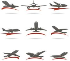 飞机LOGO设计矢量图片