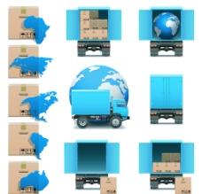 物流运输图标矢量图片