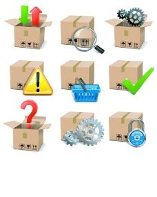 物流运输图标矢量素材图片