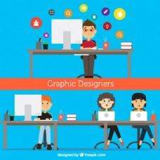 平面设计师,插画