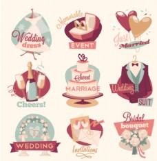 婚庆类LOGO标示图标图片