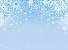多雪的淡蓝色背景