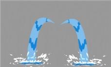像卡通眼泪的泉水flash动画